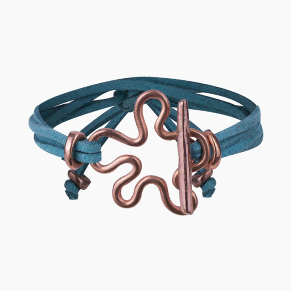 Suede leather wrist wrap fashionable bracelet accessory