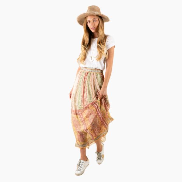 Model wearing Hale Bob Vivianna Skirt