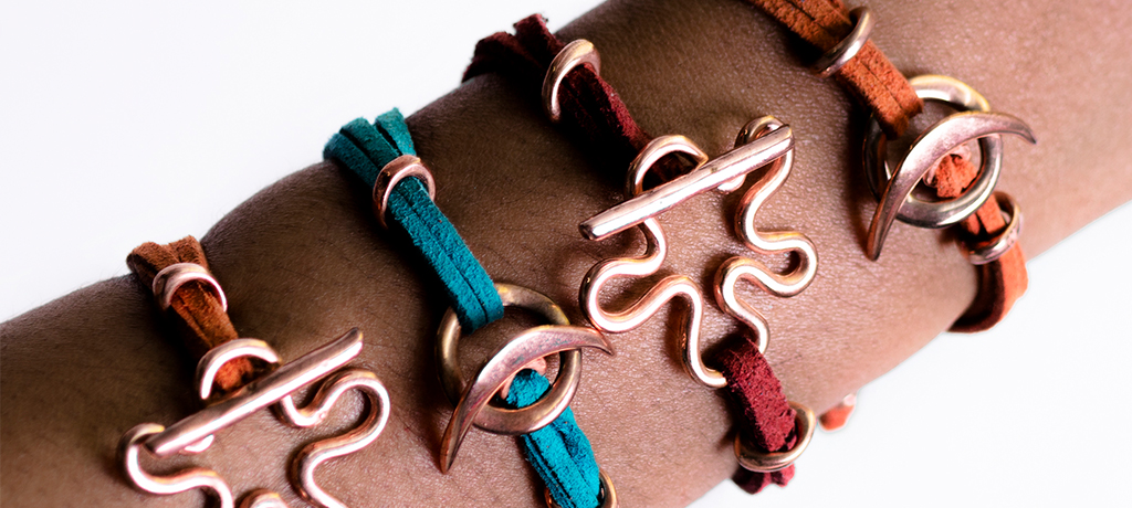 Selection of Sun and Moon and Flower and Toggle bar suede wrist wraps fashion accessories